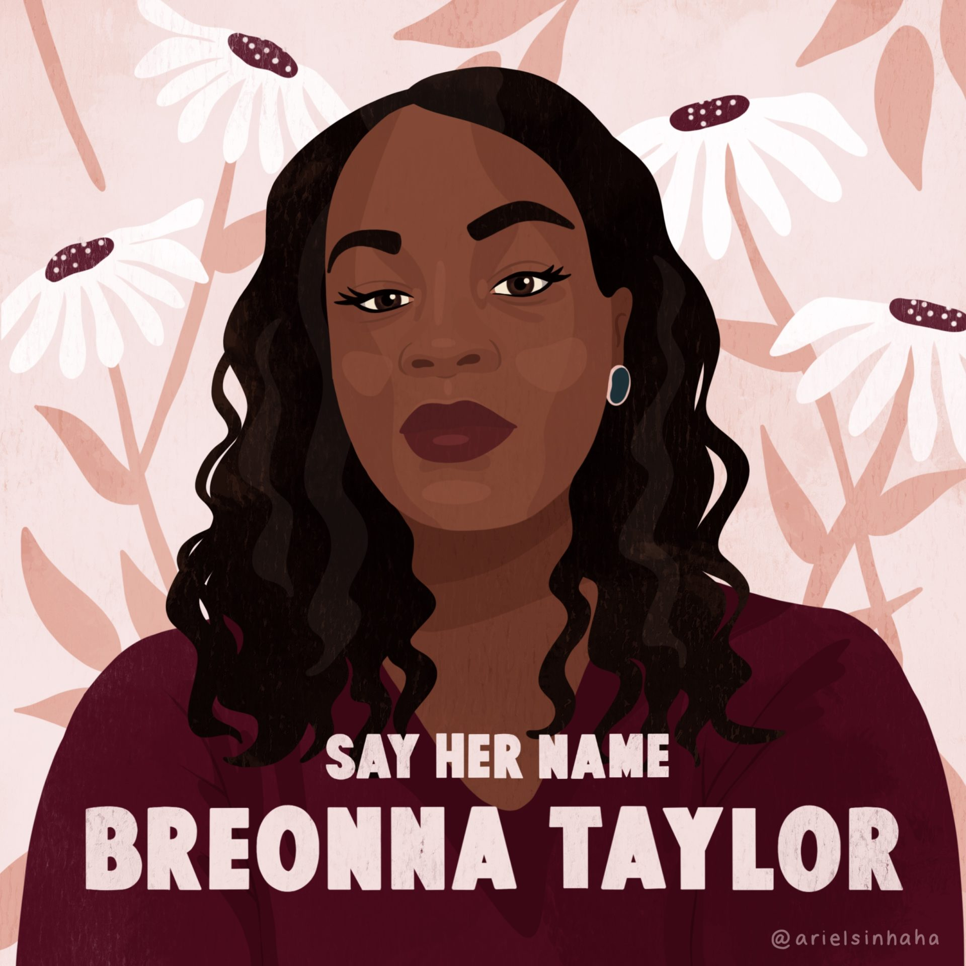 Artistic portrait of Breonna Taylor