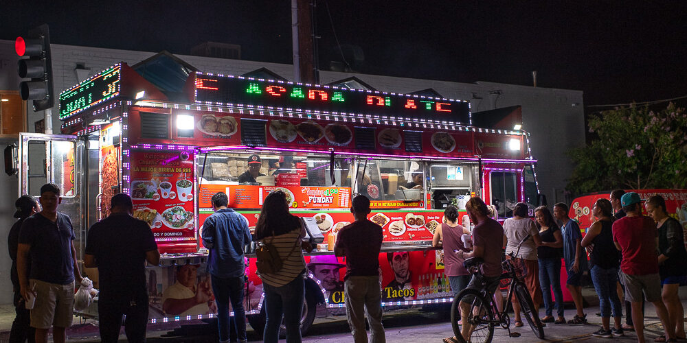 Food truck at the Mercado, Highland Park, Los Angeles, CA