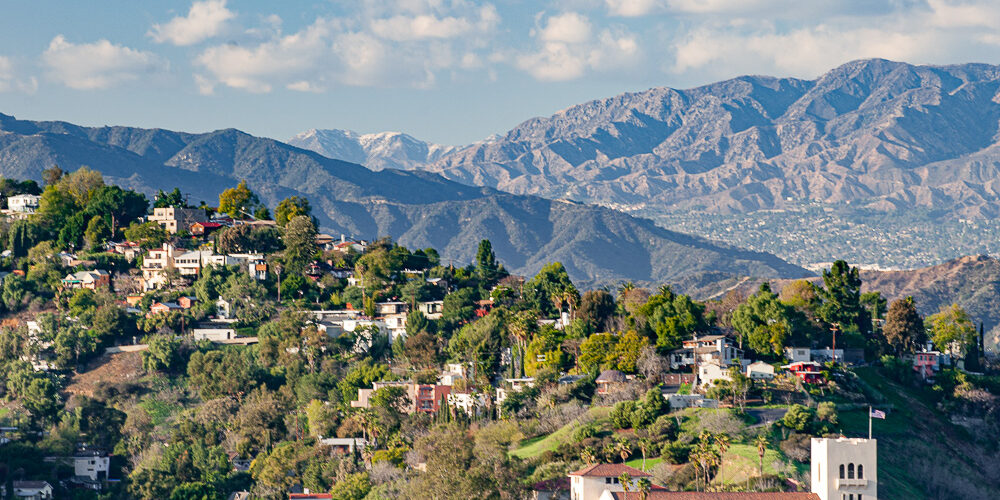 Hillside view of Mt. Washington, Los Angeles, CA